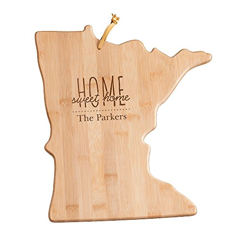 Personalized Home Sweet Home Minnesota State Cutting Board, 12