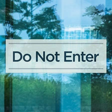CGSignLab 36x12 Basic Teal Window Cling 5-Pack Do Not Enter