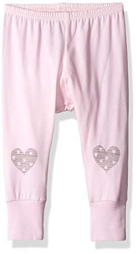 Heart Jersey Knit Cotton Modal Legging, Powder Pink, 6 Months ()