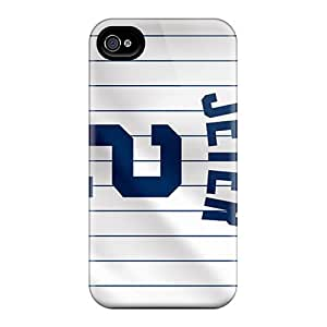 Scratch Protection Hard Phone Cases For Apple Iphone 4/4s With Custom Realistic New York Yankees Skin IanJoeyPatricia