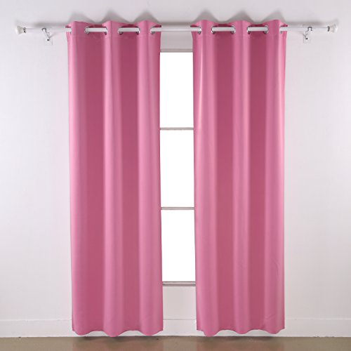 Deconovo Room Darkening Thermal Insulated Blackout Grommet Window Curtain Panel for Living (Color Blackout Curtain)