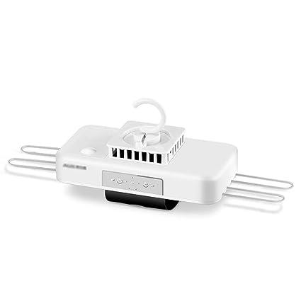GUORHGJ Secadora eléctrica, Plegable Tiempo programable Blanco 380W PTC Cinta de calefacción Diseño de Bloqueo