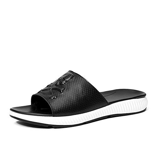 5a545bcba Aaron Aaron Aaron Men s Premium Genuine Leather Fashion Slipper Casual  Beach Shoes Parent B07FW89M95 148b4a
