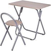 2PCS Kids Study Writing Desk Table Chair Set Work Folding Home School Furniture
