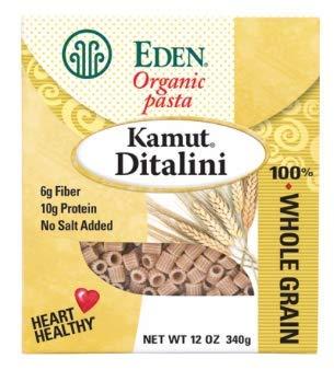 Eden Organic Kamut Ditalini, 100% Whole Grain, 12-Ounce Boxes (Pack of 6) (Eden Organic Whole Grain)