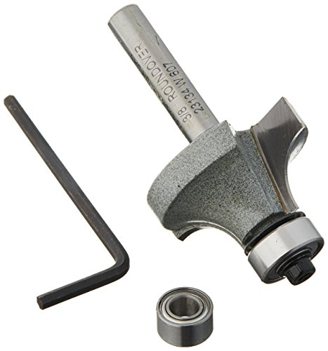 Vermont American 23134 3/8-Inch Radius Carbide Tipped Roundover and Bead Router Bit, 2-Inch Ball Bearing 2-Flute 1/4-Inch Shank ()