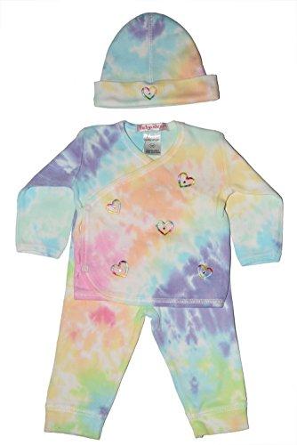 (Baby Girl 3 Piece Tie-Dye Take Me Home Rainbow)