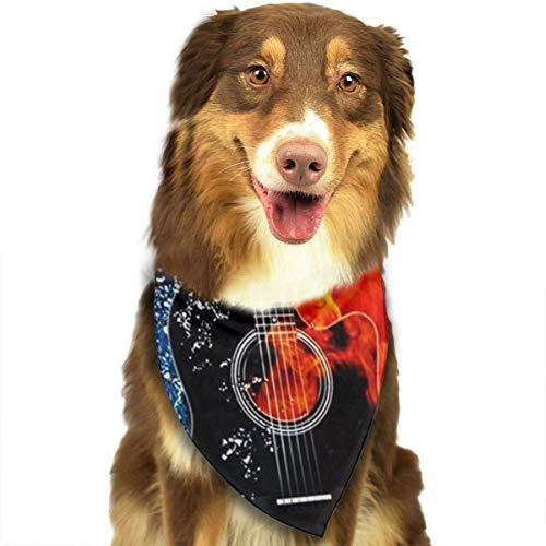 Han Jun Hua Dog Pets Bandana Scarf Guitar Triangle Bibs Eco-Friendly Printing Kerchief Set Dogs Cats Pet Decor Accessories