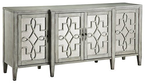 Stein World Furniture Lawrence Breakfront Credenza, Grey (Mirrored Buffets Sideboards)