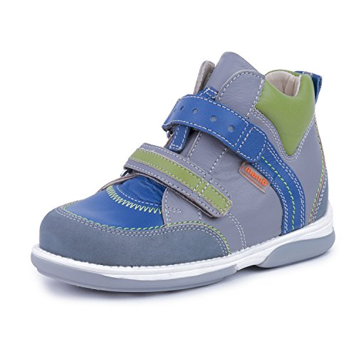 Memo Polo 3BC Diagnostic Sole Ankle Support Boy's Orthopedic Leather Sneaker, 23 (7T)