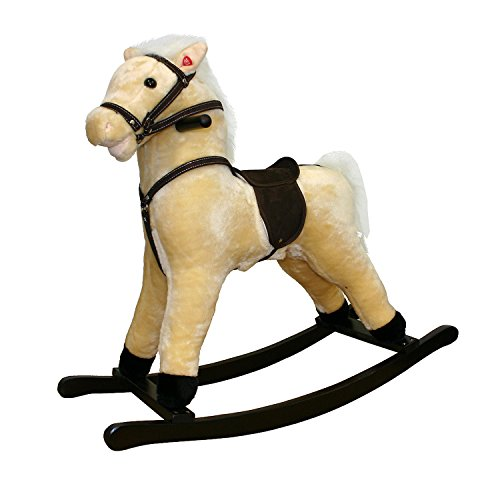 Small Plush Rocking Horse Color: Palomino