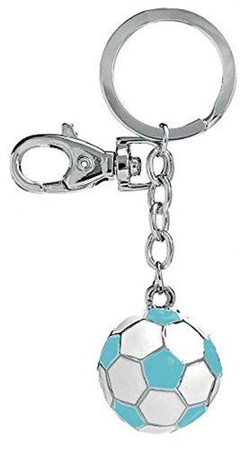 Ten Llavero Balón de fútbol balnco y Azul cod.EL7715 cm ...