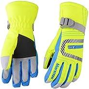 Azarxis Kids Ski Snowboard Snow Gloves, Children Winter Thermal Warm Cold Weather Gloves with Zipper Pocket fo