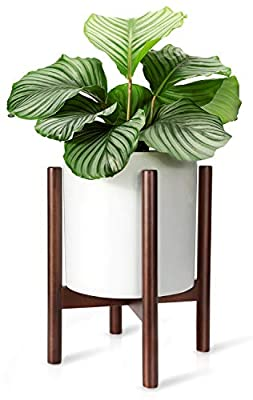 Mkono Plant Stand Mid Century Wood Flower Pot Holder Indoor Potted Rack Modern Home Decor (Plant and Pot NOT Included)