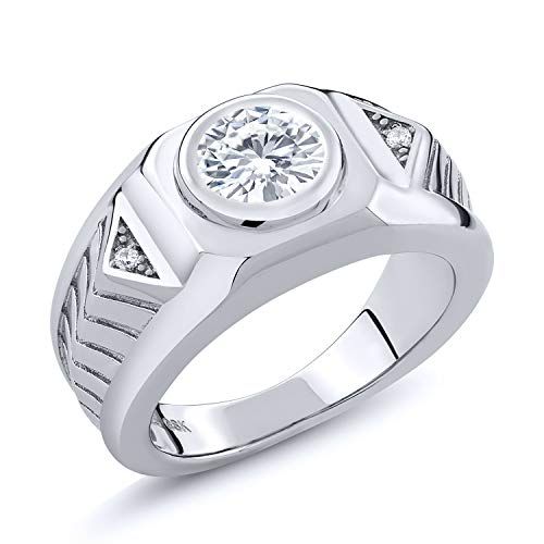 Created Moissanite Gents Ring - 9