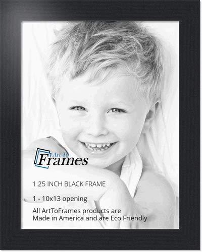 Amazoncom Arttoframes 10x13 Inch Black Picture Frame Womfrbw72079