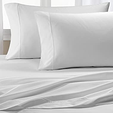 Chateau Home Collection 600 Thread Count Cotton Wrinkle Resistant Sheet Set - Queen - White