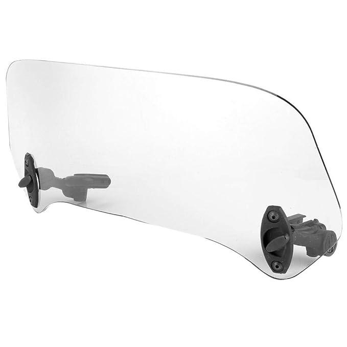 deflector de aire universal del parabrisas modificado del parabrisas de la motocicleta Transparente EBTOOLS Deflector de aire del parabrisas