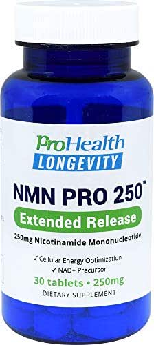 ProHealth NMN Pro 250 Extended Release (250 mg nicotinamide mononucleotide, 30 Tablets) NAD+ Precursor | Supports Anti-Aging, Longevity and Energy | Non-GMO