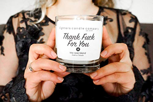 Thank Fuck For You Soy Candle, Thankful, Swear Gifts, Lighters Candle Company