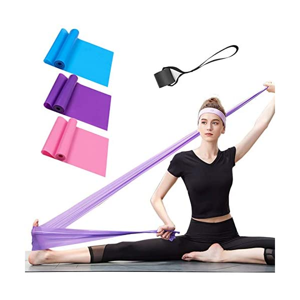 Yoga Strength Training Physical Therapy Upgrade Resistance Bands Set Pilates 5 Resistance Levels 11 Pack Set Natural Latex Material Exercise Bands 150 Lbs for Home Workout