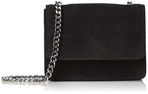 PIECES Pcgrania Suede Small Cross Body - Bolsos bandolera Mujer Negro (Black)