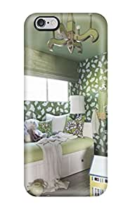 Sanp On Case Cover Protector For Iphone 6 Plus (bright Green Girls Bedroom With Daybed And Bookshelves)