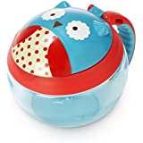 Skip Hop Baby Zoo Little Kid and Toddler Snack Cup with Snap Top Lid and No Spill Opening, Multi, Otis Owl