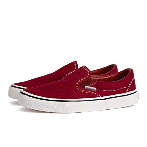 casual scarpe pedale scarpe stoffa Scarpe scarpe da di pigro di studente scarpe uomini uomo tela WFL un nere scarpe redA008T primavera aZwvvUx
