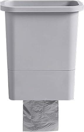 Colgando Cubo de Basura Basurero Bote de Basura Sin Tapa Caja de Almacenamiento Cesta de Papel Escritorio Cocina Gabinete Puerta Hogar Gris 26 * 16.5 * 30 cm MUMUJIN: Amazon.es: Hogar