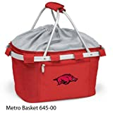 PICNIC TIME 645-00-100-032-0 Arkansas At Fayetteville Embroidered Metro Picnic Basket, Red For Sale
