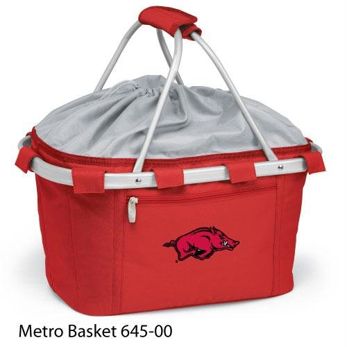 Metro Embroidered Basket (Picnic Time 645-00-100-032-0 Arkansas At Fayetteville Embroidered Metro Picnic Basket, Red)