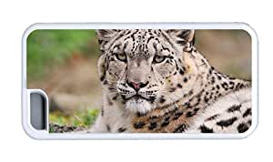 Hipster cool iPhone 5C cases Snow Leopard Face TPU White for Apple iPhone 5C
