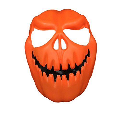 [AMA(TM) Halloween Party Cosplay Mask Plastic Pumpkin Head Terror Mask (Orange)] (The Real Batman Costume For Sale)