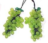 grape cluster lights - Tuscan Winery Green Grape Summer Garden Patio Christmas Light Set - 7 Clusters 35 Lights