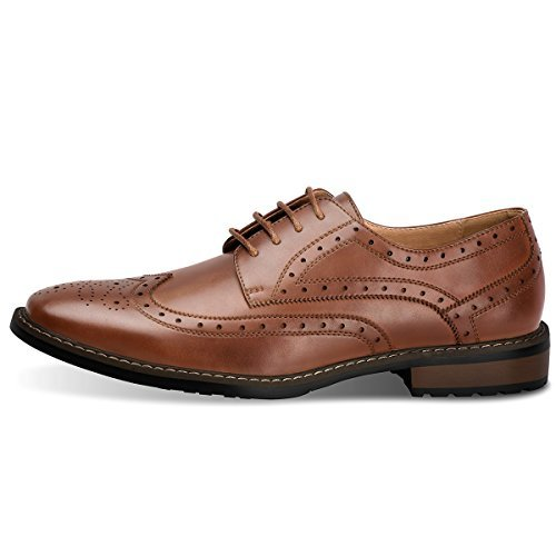 Men's Wingtip Classic Italy Lace-up Black Dress Shoes Brown 11 D (M - Leather Dress Elegant Shoes Brown