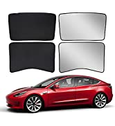 2021 Tesla Model 3 Sunshade Front amp; Rear Glass Roof Sun Shades with Skylight Reflective Covers Se...