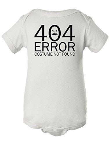 Tenacitee Baby Girl's 404 Costume Not Found Bodysuit, Newborn, (Dorky Girl Halloween Costumes)