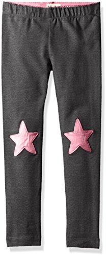 Hatley Little Girls' Star Leggings, Glitter Charcoal Stars Leggings, 5