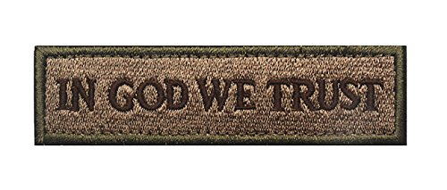 In God We Trust Tactical Morale Hook and Loop Patch (Coyote Tan)