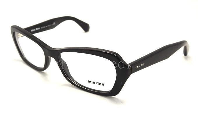 2e33ff31db07 Amazon.com  Miu Miu MU01IV Eyeglasses-1AB 1O1 Black-54mm  Clothing