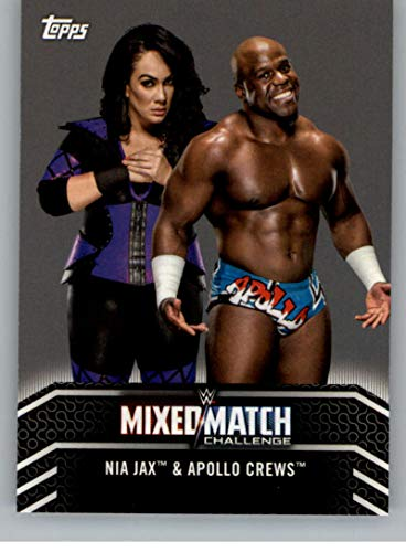 2018 Topps WWE Women's Division Mixed Match Challenge #MM-3 Nia Jax and Apollo Crews Wrestling Trading Card