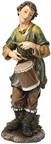 Joseph s Studio by Roman – Colored Drummer Boy Figure for 27 Scale Nativity Collection, 23.5 H, Resin and Stone, Decorative, Collection, Durable, Long Lasting