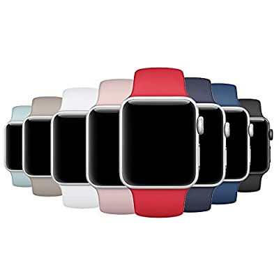 Band for Apple Watch 38mm 42mm, SIRUIBO Soft Silicone Sport Strap Replacement Bracelet Wristband for Apple Watch Series 3, Series 2, Series 1, Nike+, Edition, S/M M/L Size