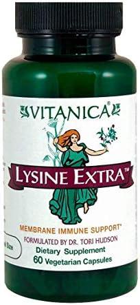Vitanica Lysine Extra, Immune System Support, Vegan, 60 Count