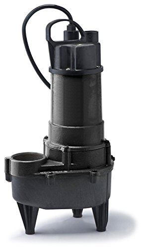 (ECO-FLO Products RSE50M Manual Cast Iron Sewage Pump, 1/2 HP, 7,800)