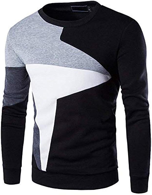 Męski Fashion okrągły dekolt sweter bluza topy bluzy sweter elegancki wygodny rozmiar długi rękaw sweter dzianiny sweter sukienka: Odzież