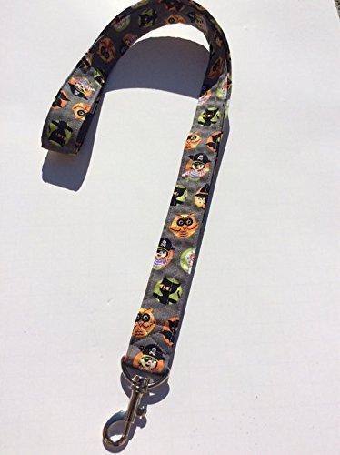 Halloween Grey Lanyard Keychain Key Keeper ID Badge Holder Novelty Halloween Costumes Characters ()