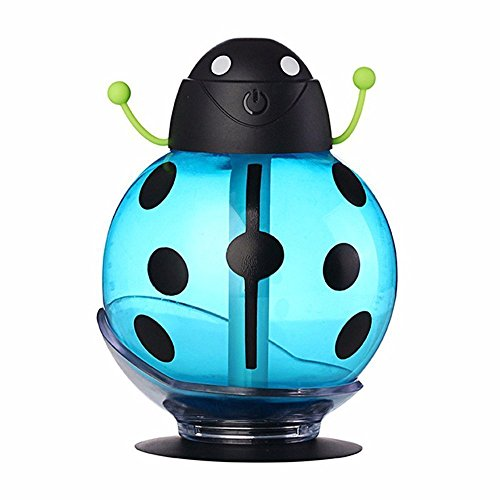 Cool Mist Humidifier, Humidifier Purifier, eBoTrade Portable 360 Degree Rotation Creative Cartoon Beetle Skin Replenishment Ultrasonic Mini Car Humidifier USB Air Freshener (Blue)