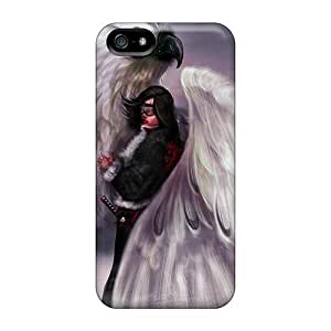 Protective Tpu Case With Fashion Design For Iphone 5/5s (refuge)